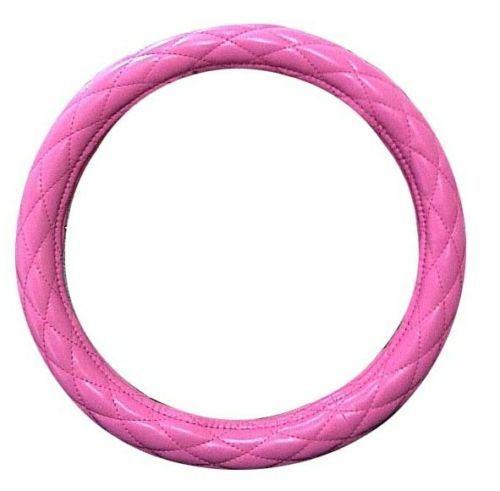 "18"" Diamond Cushion Pink Steering Wheel Cover for Peterbilt, Freightliner, Semi Trucks"