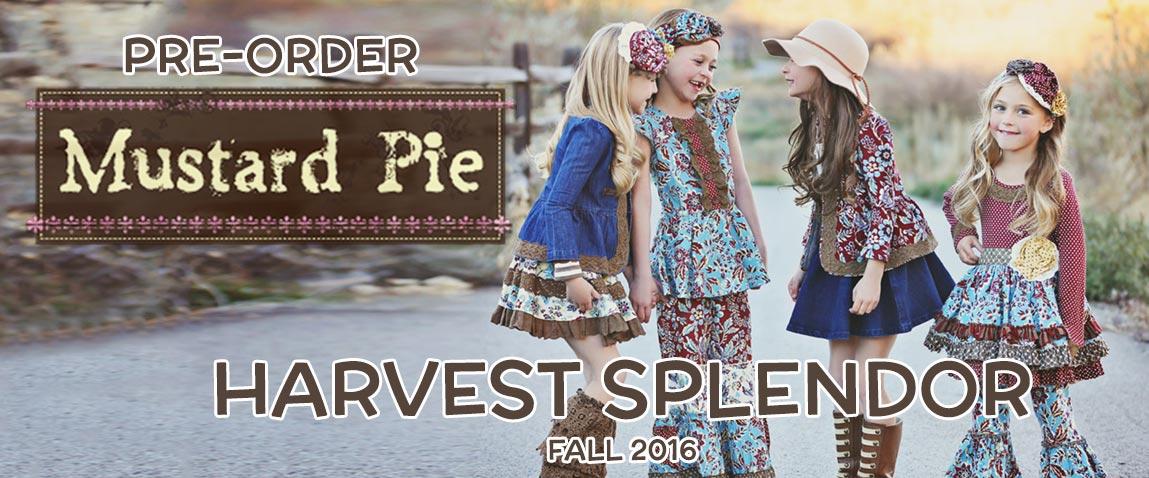Mustard Pie Harvest Splendor Fall 2016