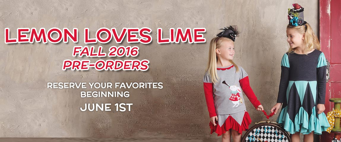 Lemon Loves Lime Fall 2016 Pre-Orders
