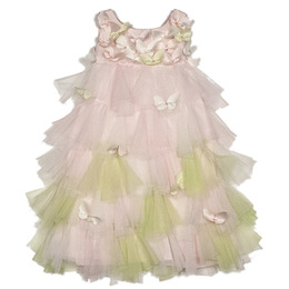 Biscotti Bella Butterfly Netting Petals Dress - Multi