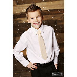 Mustard Pie Holiday Snow Angels Boys Neck Tie - Golden