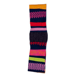 Deux Par Deux Carte De Mode Striped Headband - Multi