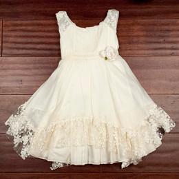 Biscotti French Antique Sleeveless Voile Dress - Ivory