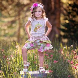 Haute Baby May Flowers 2pc  Short Set
