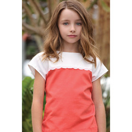 Persnickety Sweet Pea Claire Top - Orange