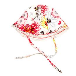 Catimini Spirit Graphic Reversible Hat w/Butterflies - Blanc