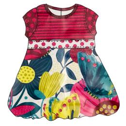 Catimini Spirit Graphic Dress - Imprime Rose