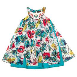 Catimini Spirit Graphic Dress - Imprime Fond Blanc