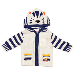 Catimini Spirit Graphic Boy Hooded Cardigan - Raye Gris
