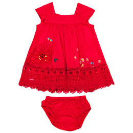 Catimini Spirit Graphic 2pc Dress & Bloomer Set - Camelia