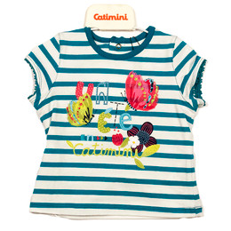 Catimini Spirit Graphic T-Shirt - Raye Turquoise