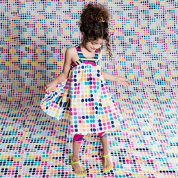 Deux Par Deux Fizzy Pop! Polka Dot Printed Dress