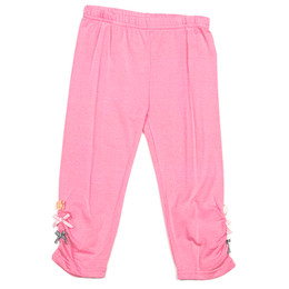Deux Par Deux Miss Butterfly Solid Capri Leggings - Pink Carnation