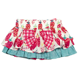 Deux Par Deux Strawberry Field Cotton Skirt