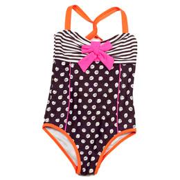 Deux Par Deux Swimwear Mimi Les Maillots 1pc Polka Dot Swimsuit