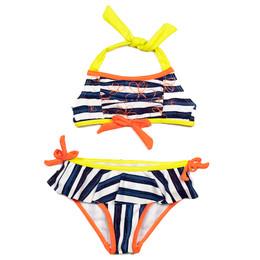Deux Par Deux Swimwear Mimi Les Maillots 2pc Striped Swimsuit
