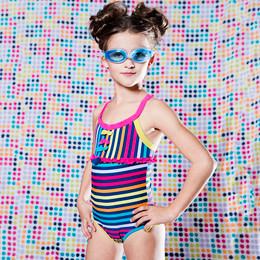 Deux Par Deux Swimwear Mimi Les Maillots 1pc Striped Swimsuit - Multi