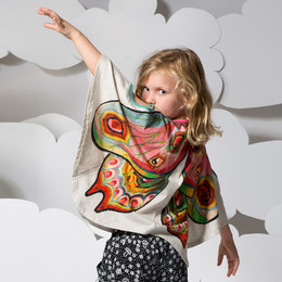 Paper Wings Curved Poncho Tee - Wings