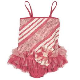 Isobella & Chloe Swim Popsicle Kisses 1pc Skirted Swimsuit - Hot Pink
