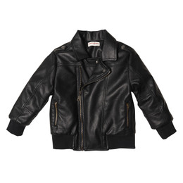 Deux Par Deux Like a Viking Faux Leather Jacket - Anthracite