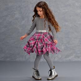 Kate Mack Material Girl Stripe & Plaid Dress - Multi