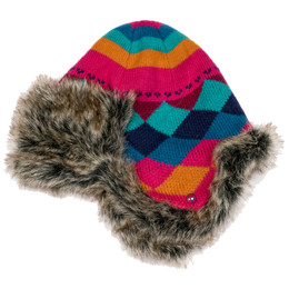 Catimini Nice Day Hat w/Faux Fur Accents - Multicoloris