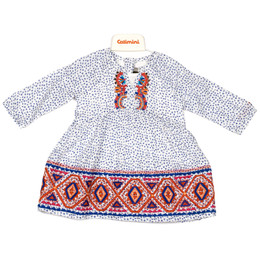 Catimini The Russian Dolls Dress - Imprime fond perle