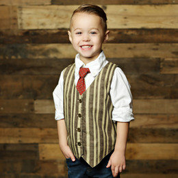 Mustard Pie Boys Vest - Chocolate Sand (D1)