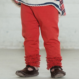 Persnickety Penny Lane Gracie Gathered Leggings - Red (3M-12Y)