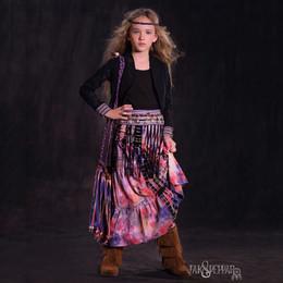 Jak & Peppar Woodstock 2N1 Maxi Skirt / Dress - Dazed Multi