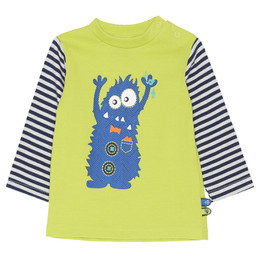Chapo Pointu Monster of Music L/S T-shirt - Lime Green