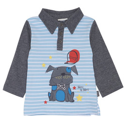 Blanc de Blanc Scooter Puppy L/S Polo - Striped