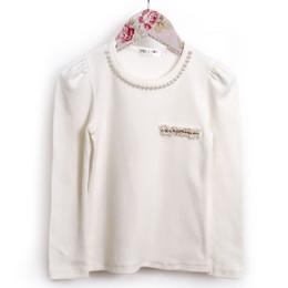 MaeLi Rose Winter Whimsy Pearl Longsleeve Top - Ivory
