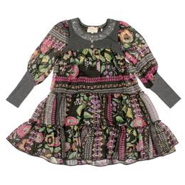 Hannah Banana Pink Blush Multiprint Tiered Dress