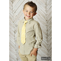 Mustard Pie Shangri La Boy's Neck Tie - Butter