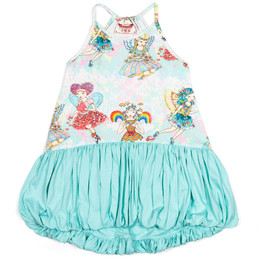 Paper Wings Fairies Bubble Dress - Multi/Mint