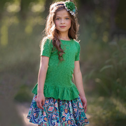 Persnickety Wonderstruck Elsie Top - Green