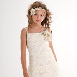 Biscotti Fairytale Romance Drop Waist Strappy Dress - Ivory