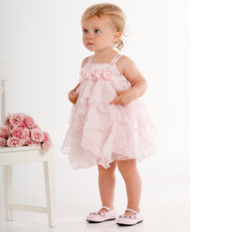 Biscotti Baby Birthday Girl Chiffon Dress - Pink