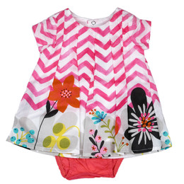 Catimini The Cat's Whiskers Spirit Graphic 2pc Dress & Bloomers Set - Rose