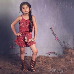 Jak & Peppar Sun Gypsy Imogen Romper - Berry