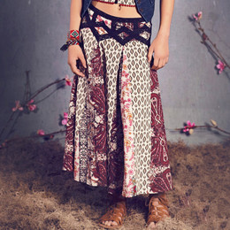 Jak & Peppar Sun Gypsy Coronado Skirt - Blackberry