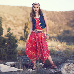 Jak & Peppar Sun Gypsy Josefina Skirt - Berry