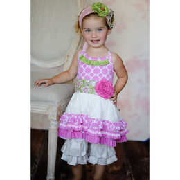 Giggle Moon Lily Of The Valley 2pc Set Tutu Dress with Ruffle Capri Pants