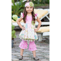 Giggle Moon Lily Of The Valley 2pc Set Maddison with Ruffle Capri Leggings