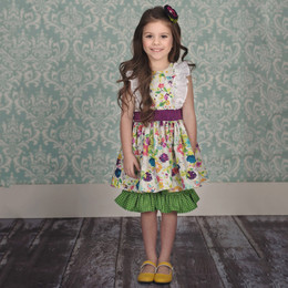 Persnickety Easter Hopscotch Dress - Cream