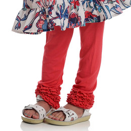 Persnickety Wild Flower Gracie Legging - Red