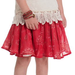 Persnickety Wild Flower Nadia Skirt - Red