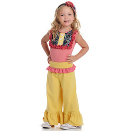 Persnickety Salty Kisses & Sandy Toes Belle Pant - Yellow