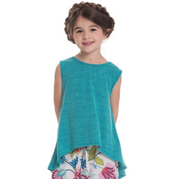 Persnickety Salty Kisses & Sandy Toes Juliet Top - Turquoise